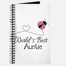 World's Best Auntie Ladybug Journal