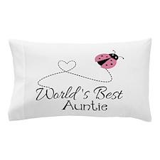 World's Best Auntie Ladybug Pillow Case