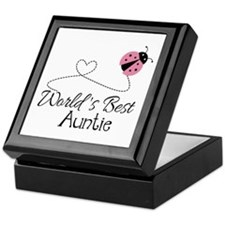 World's Best Auntie Ladybug Keepsake Box