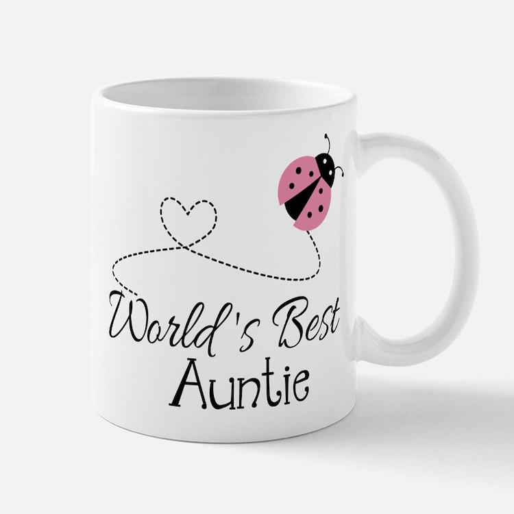World's Best Auntie Ladybug Mug