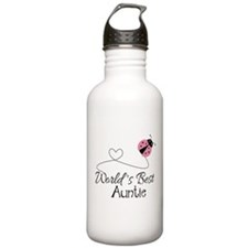 World's Best Auntie Ladybug Sports Water Bottle