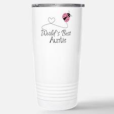 World's Best Auntie Ladybug Travel Mug