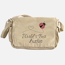 World's Best Auntie Ladybug Messenger Bag