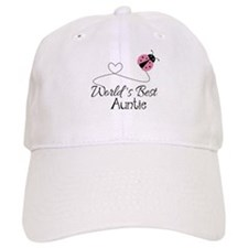 World's Best Auntie Ladybug Baseball Cap