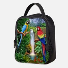MACAW TROPICAL PARROTS Neoprene Lunch Bag