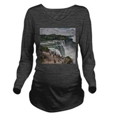 Niagara Falls 3 Long Sleeve Maternity T-Shirt