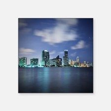 Miami skyline at night Sticker