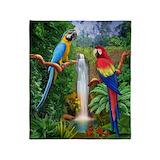 Parrots Fleece Blankets