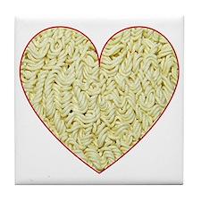 I Love Instant Noodles Tile Coaster