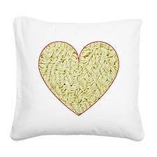 I Love Instant Noodles Square Canvas Pillow