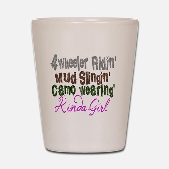 kinda girl Shot Glass