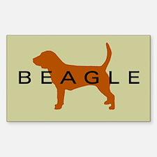 Beagle Dog Rectangle Decal