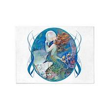 Clive Erotic Pearl Mermaid Horiz. 5'X7'area Rug
