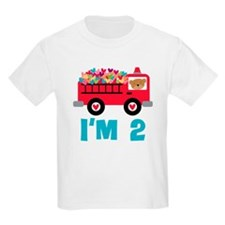 2nd Birthday Firetruck T-Shirt