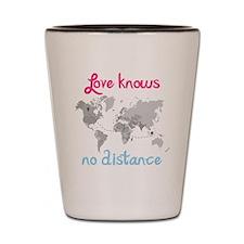 LDR ( Love know no Distance) Shot Glass