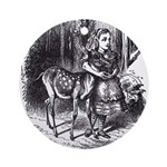 Alice and the Fawn Ornament (Round)