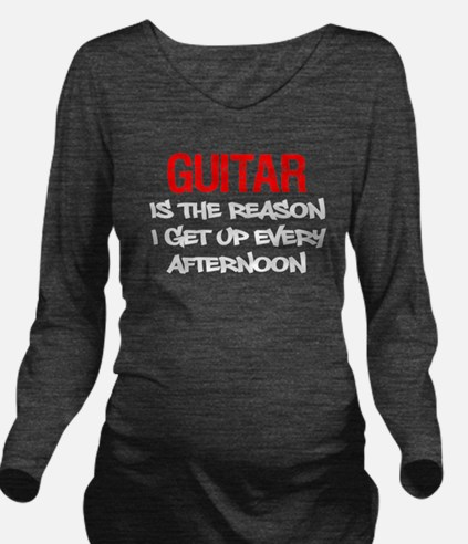Guitar Get Up Afternoon Long Sleeve Maternity T-Sh