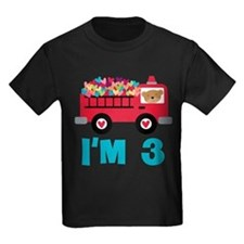 3rd Birthday Firetruck T