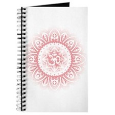 Yoga Mandala Henna Ornate Ohm Lotus Pink Journal