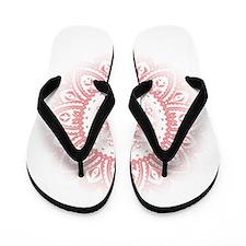 Yoga Mandala Henna Ornate Ohm Lotus Pink Flip Flop