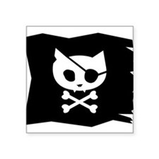 Pirate Kitty Jolly Roger Flag Sticker