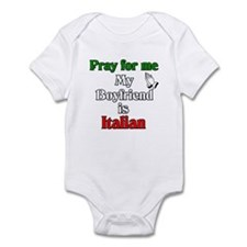 Pray for me my boyfriend is I Infant Bodysuit