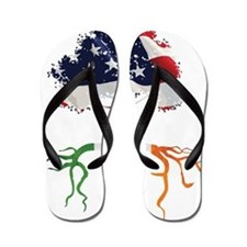 USA Irish Roots Flip Flops