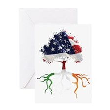USA Irish Roots Greeting Card