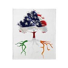 USA Irish Roots Throw Blanket