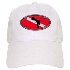 Framed Bonaire Dive Flag Baseball Cap