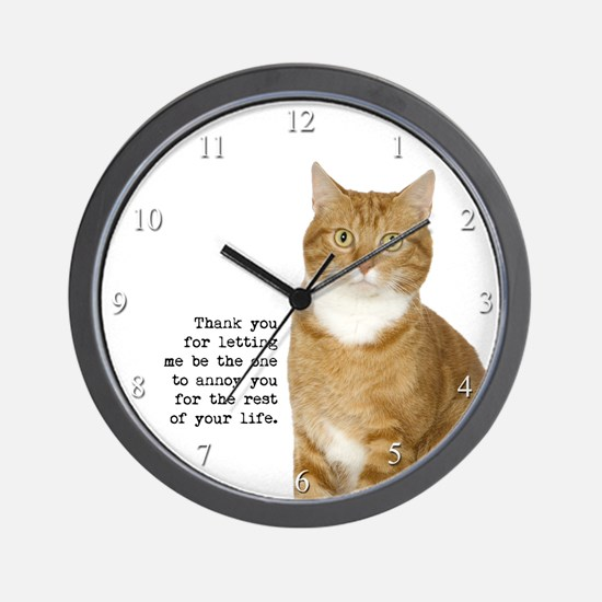 Annoying Cat Wall Clock