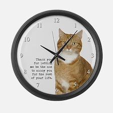 Annoying Cat Large Wall Clock