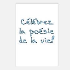 Celebrez la poesie de la vie Postcards (Package of