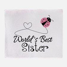 Worlds Best Sister Throw Blanket
