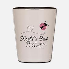 Worlds Best Sister Shot Glass