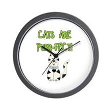 Cats Are Purr-fect Wall Clock