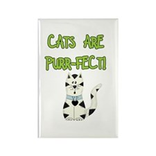 Cats Are Purr-fect Rectangle Magnet