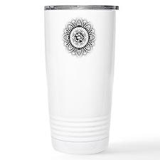 Ohm in Mandala Indian Henna Design Travel Mug