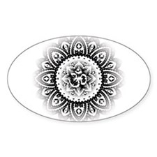Ohm in Mandala Indian Henna Design Decal