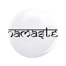 "Namaste, Yoga 3.5"" Button (100 pack)"