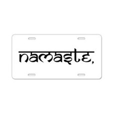 Namaste, Yoga Aluminum License Plate