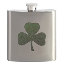 Lucky Irish Shamrock Flask