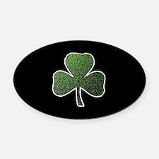 Lucky Irish Shamrock Oval Car Magnet