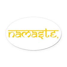 Namaste, Yoga Oval Car Magnet