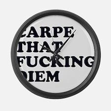 Carpe Diem Large Wall Clock