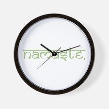 Namaste, Yoga Wall Clock
