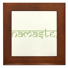 Namaste, Yoga Framed Tile