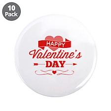 "Happy Valentine's Day 3.5"" Button (10 pack)"