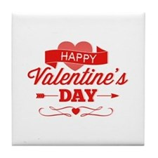 Happy Valentine's Day Tile Coaster