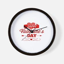 Happy Valentine's Day Wall Clock